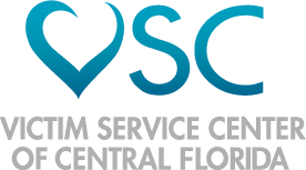 blue logo for Victim Service Center